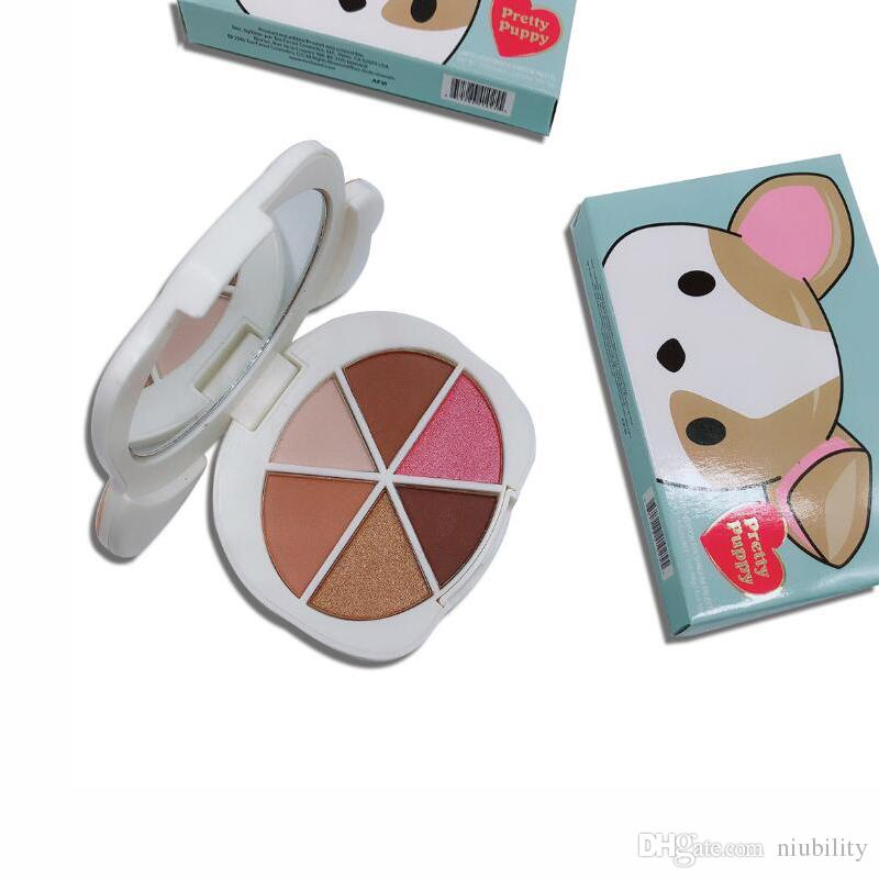 Newest Makeup Palette Pretty Puppy 6 color eyeshadow palette Eye cosmetics Faced palette DHLl shipping