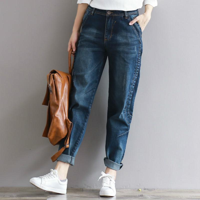 Fit Jeans Women Plus Casual Vintage High Waist Vaqueros 2018 Pants Loose Harem Denim Trousers Size Boyfriend Female 6bf7gYy