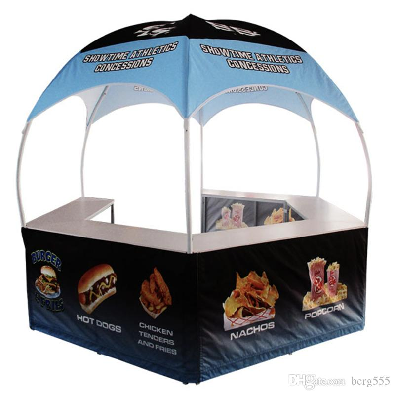 Portable Branded Pop Up Sales Marketing Food Bar With Dye