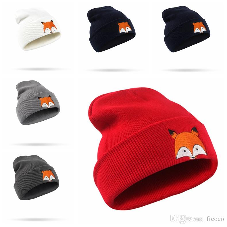 Bulk Polyester Cartoon Fox Winter Hats Adult Children Brand Hats Beanies  Fitted Hat Luxury Polo Hats Warmer Skull Caps Beanie Hats For Men Black  Beanie From ... 1dd409a7e21