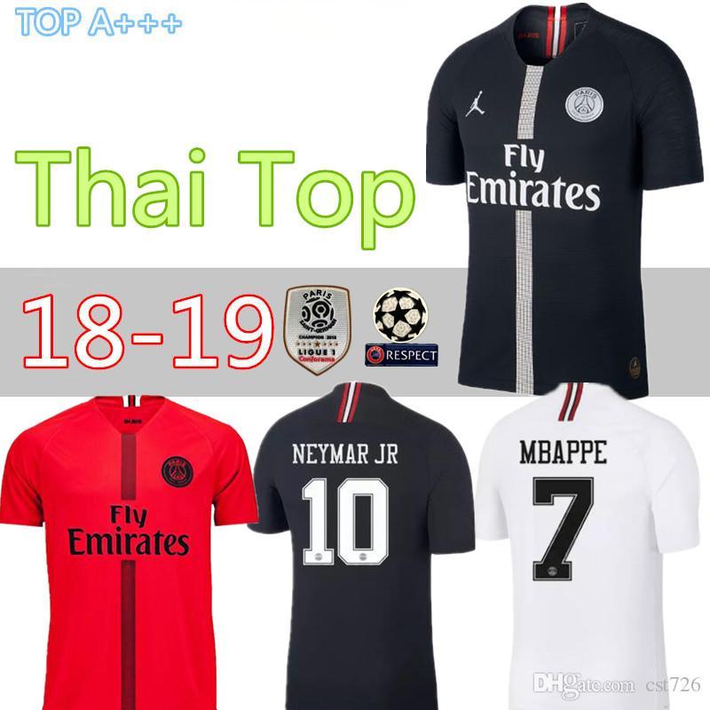 best website 78949 a6e6f 18 19 PSG home away third maillot MBAPPE soccer jersey CAVANI VERRATTI top  thailand paris football shirt KIMPEMBE Camiseta de futbol