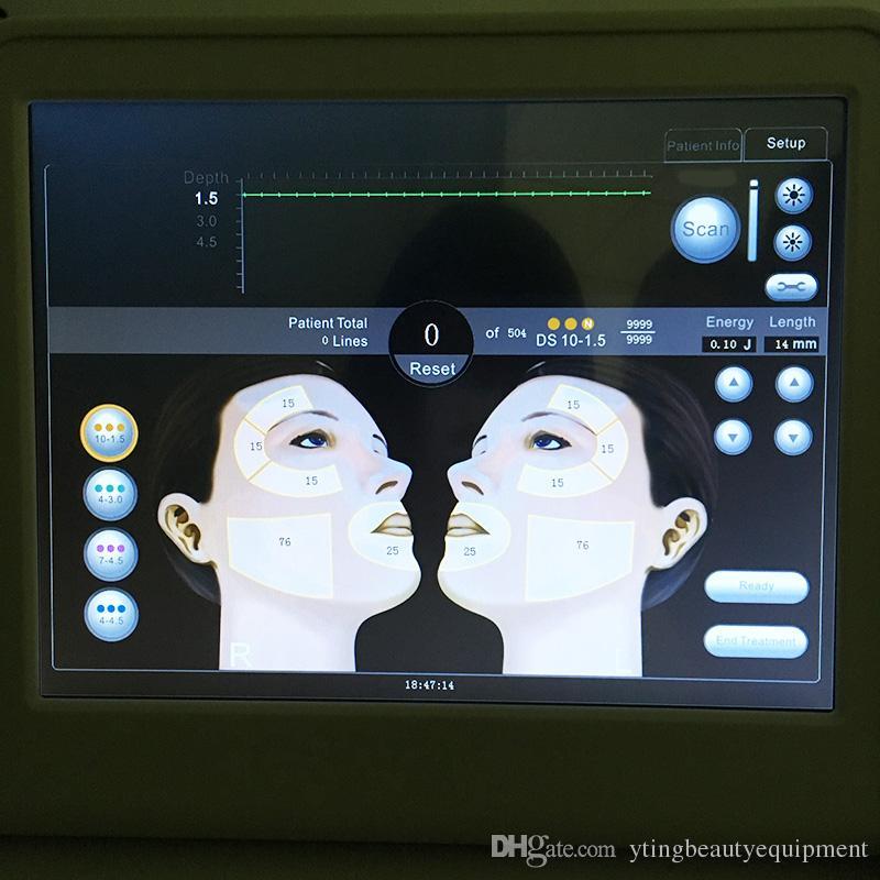 휴대용 hifu 얼굴 리프팅 장비 hifu 얼굴 기계 얼굴과 신체 피부에 대 한 집중 강도 높은 집중된 초음파 주름 방지