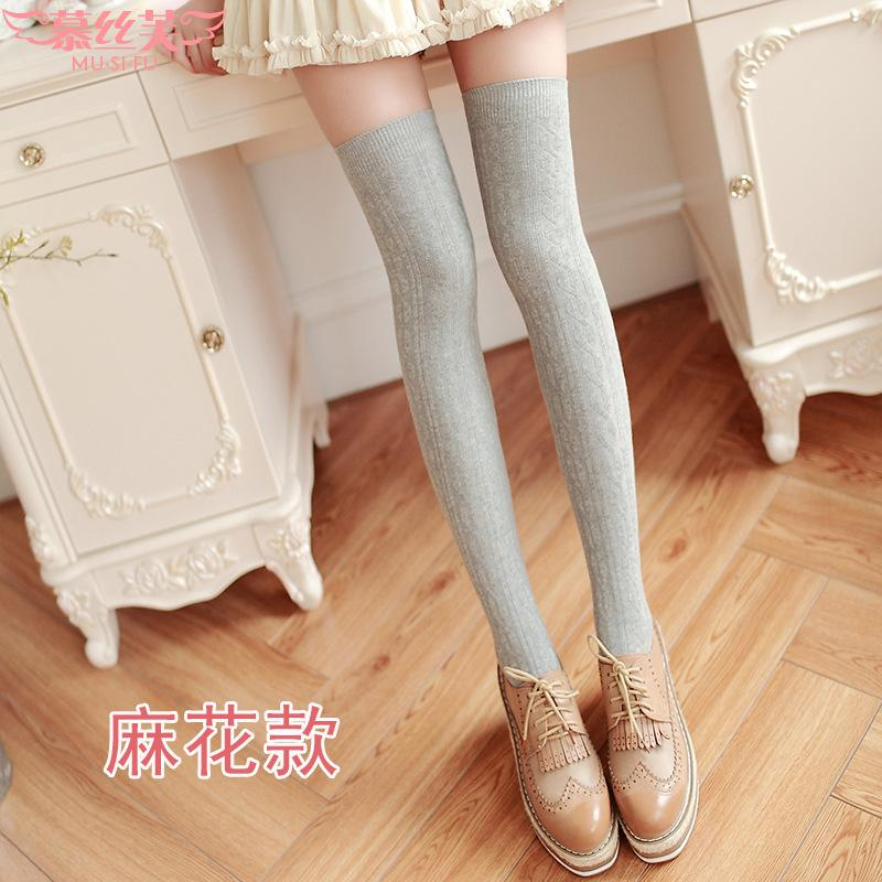 fb4ff257a 2019 2018 New Fashion Women s Stockings Sexy Warm Thigh High Over The Knee  Socks Long Cotton Stockings For Girls Ladies Accessorie From Missher