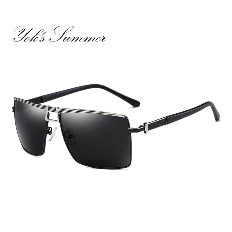 5221b902007 Yok s Men s Polarized Sunglasses For Driving Goggles Square Military ...