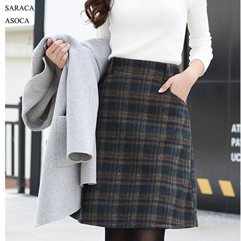 44c2da5638 2019 Plus Size 5XL 6XL 7XL Knee Length Plaid Skirt Girls Spring Autumn  Fashion A Line Bust Skirt Woman From Watchlove