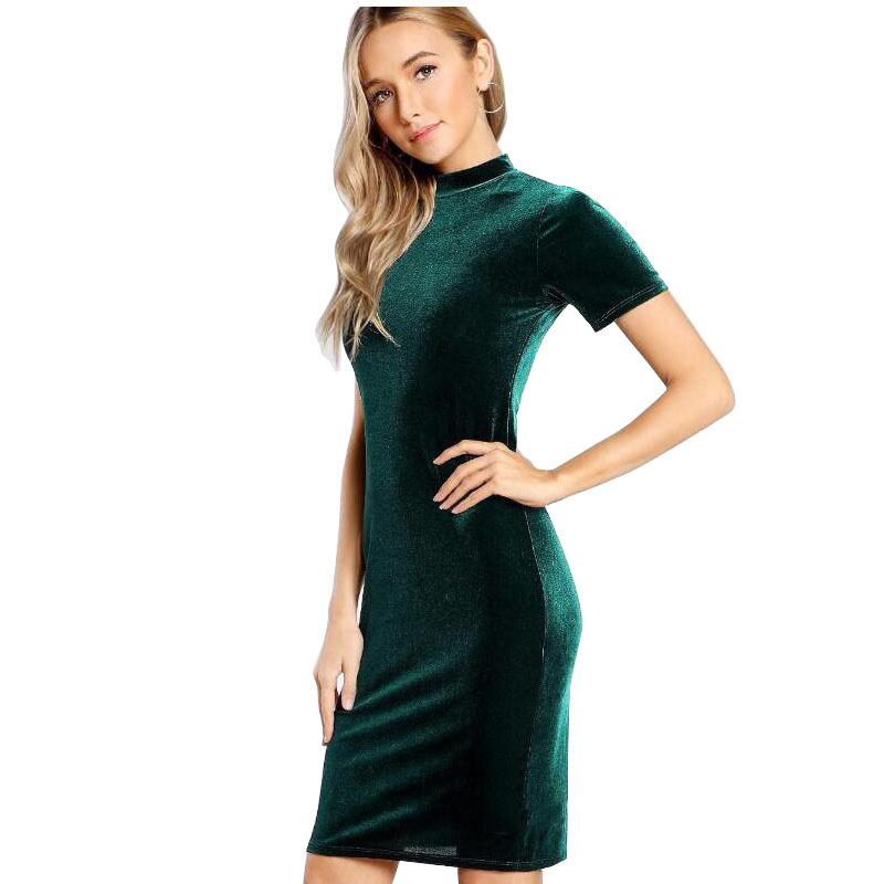 2018 venta superior Negro Cut Out Glitter Dress Mujeres cuello redondo sin mangas de cintura alta Sexy Party Dress 2018 Spring Bodycon corto vestido