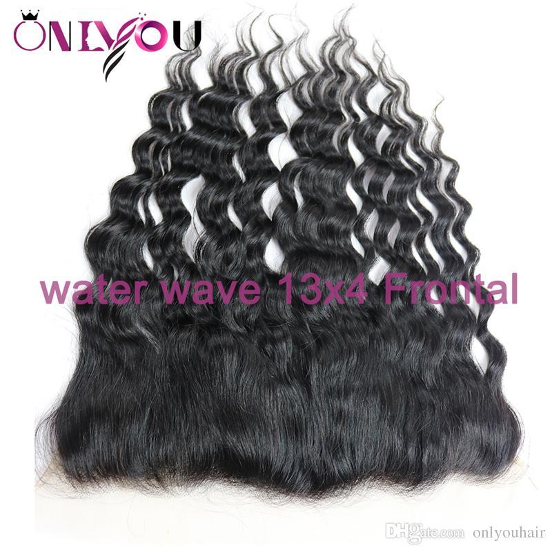 Onlyou Hair® Brezilyalı Bakire Saç Satıcıları Vücut Dalga 13x4 Dantel Ön Kapatma Düz Derin Dalga Sapıkça Kıvırcık Brezilyalı Dantel Frontal Demetleri