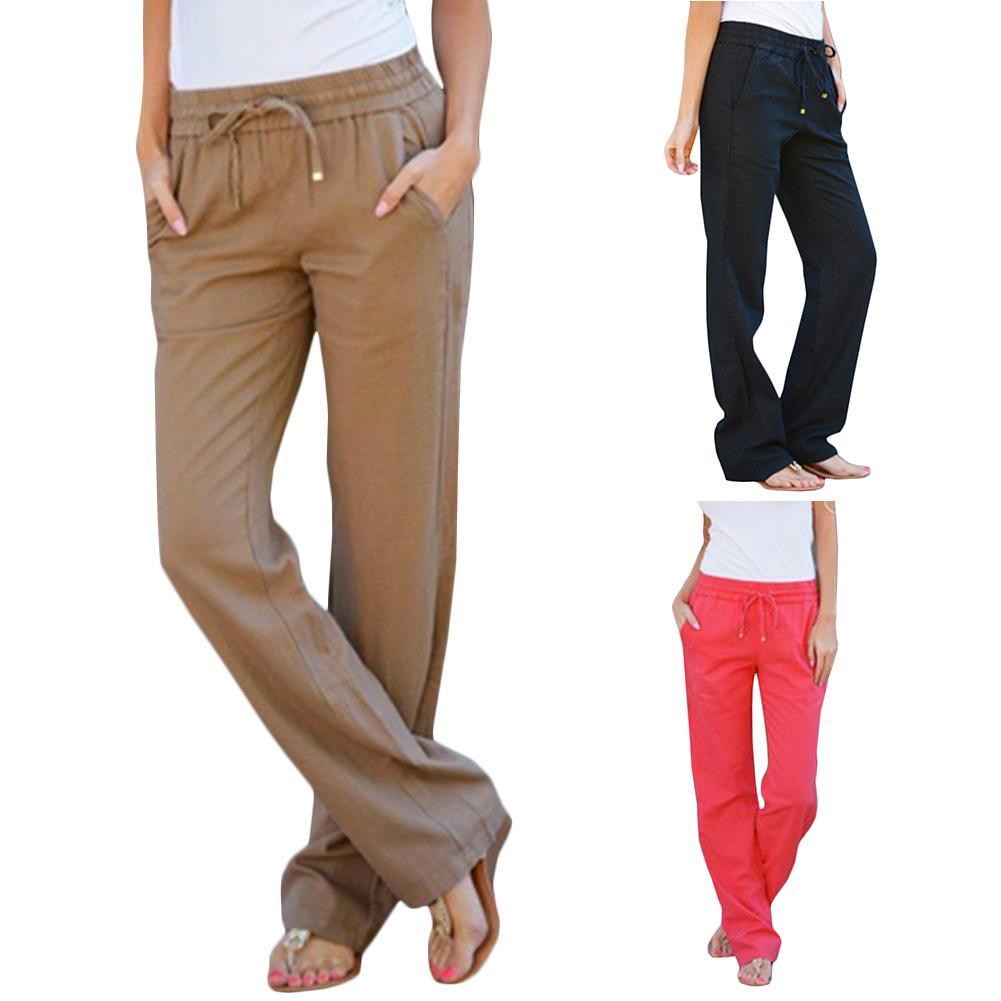 Acheter Été 2018 Mode Linge Élastique Taille Pantalon Tout Allumette Lâche  Bonbons De Couleur Pantalon Casual Femmes Pantalon De  16.76 Du  Lin and zhang ... ac113610021a
