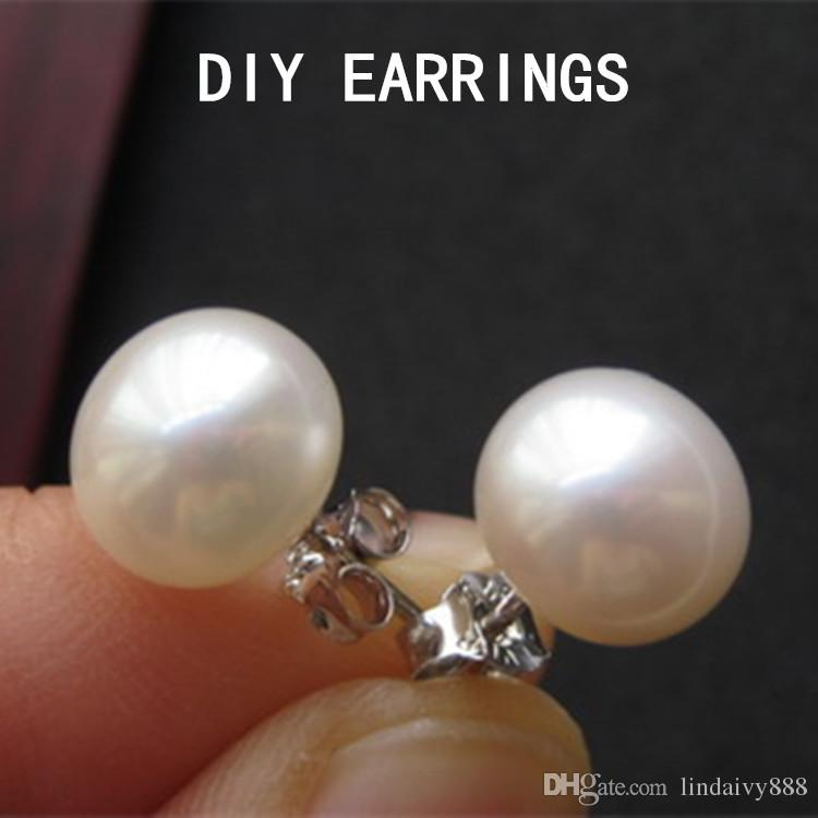 Earrings studs base setting tray Bow hape Earrings Pins Needles Posts 925 sterling silver stud setting jewelry making bijoux wholesales