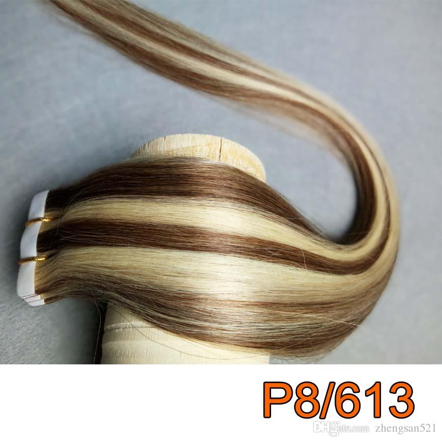 Best Skin Weft Tape In Human Hair Extensions 100 Peruvian Straight