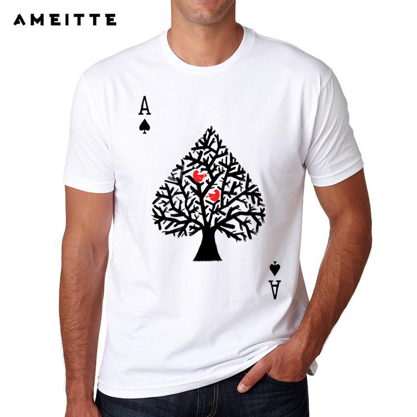 2018 Creative Heart Tree Design T Shirt Summer High Quality Custom Playing  Card T Shirt Men S Hipster Cool Tops Tee Shirts Humor Tees Funny Tee From  ... d508eac4254f