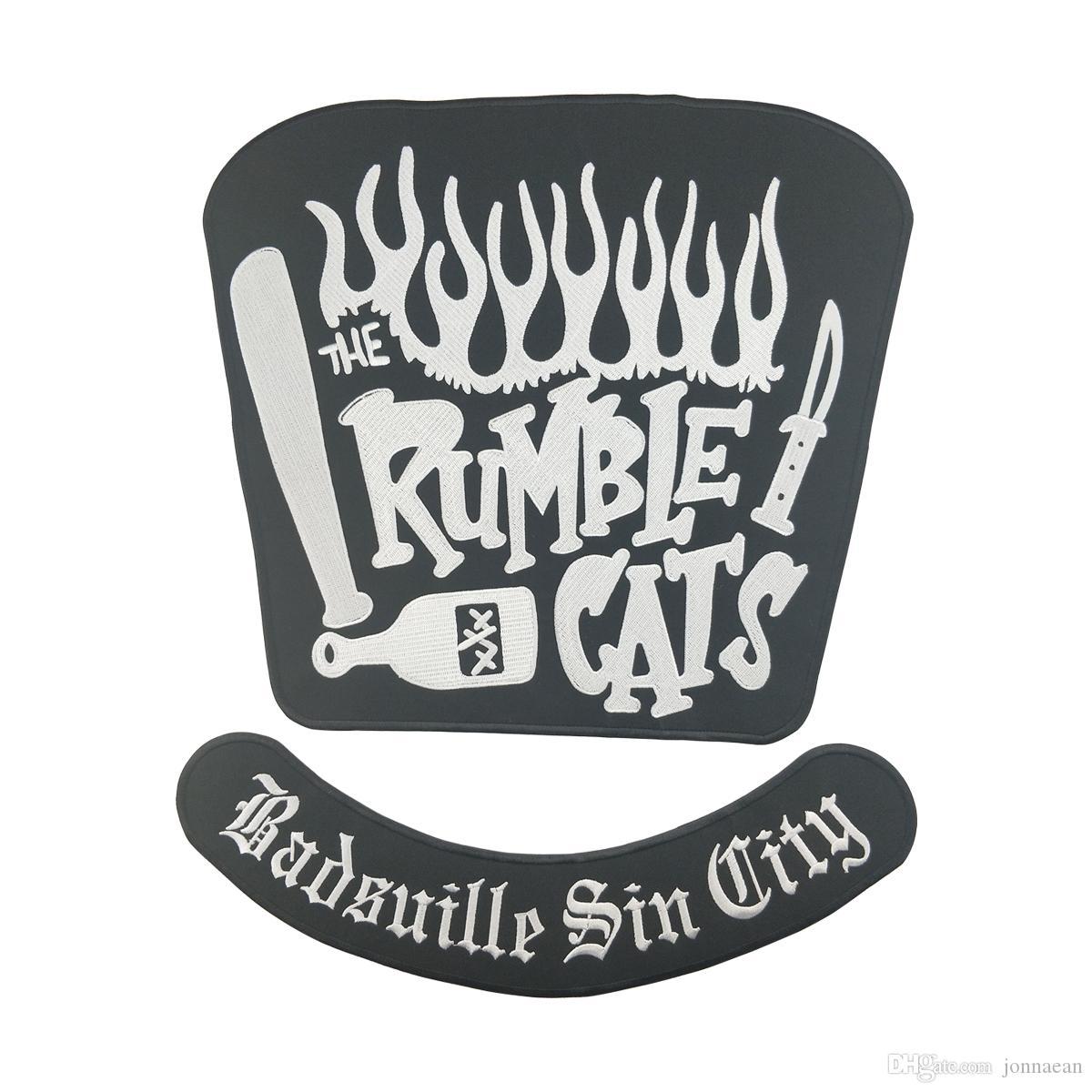 HOT SALE RUMBLE CATS MOTORCYCLE COOL LARGE BACK PATCH CLUB VESTOUTLAW BIKER MC PATCH