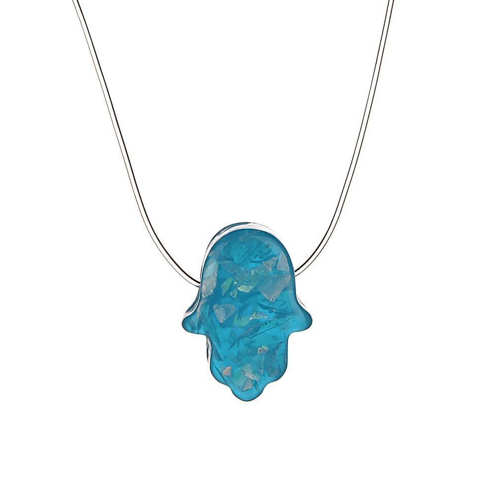 Moda línea de pesca transparente collar de cadena invisible minimalismo chocker collares para mujeres niñas regalo de la joyería