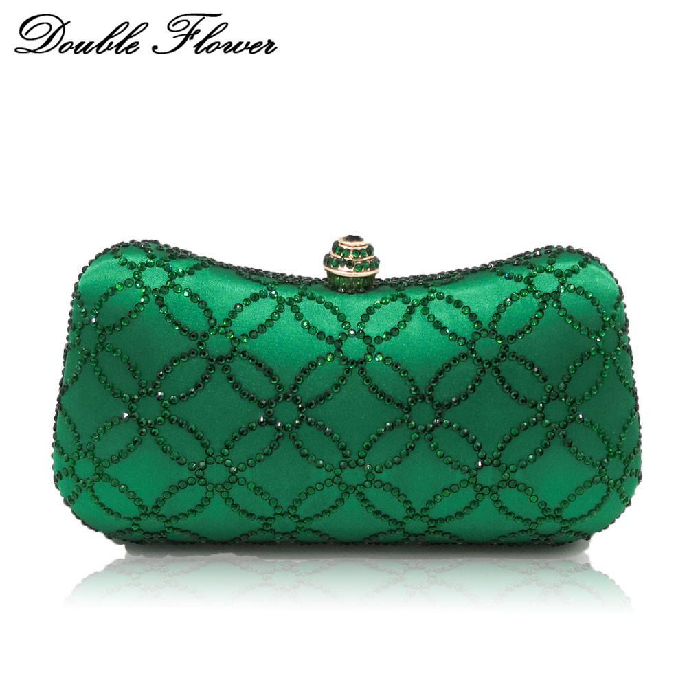 Double Flower Chinese Coins Numismatics Green Emerald Women Crystal Evening  Clutch Handbag Purse Wedding Party Shoulder Bag Evening Bags Cheap Evening  Bags ... 2b87542013ef