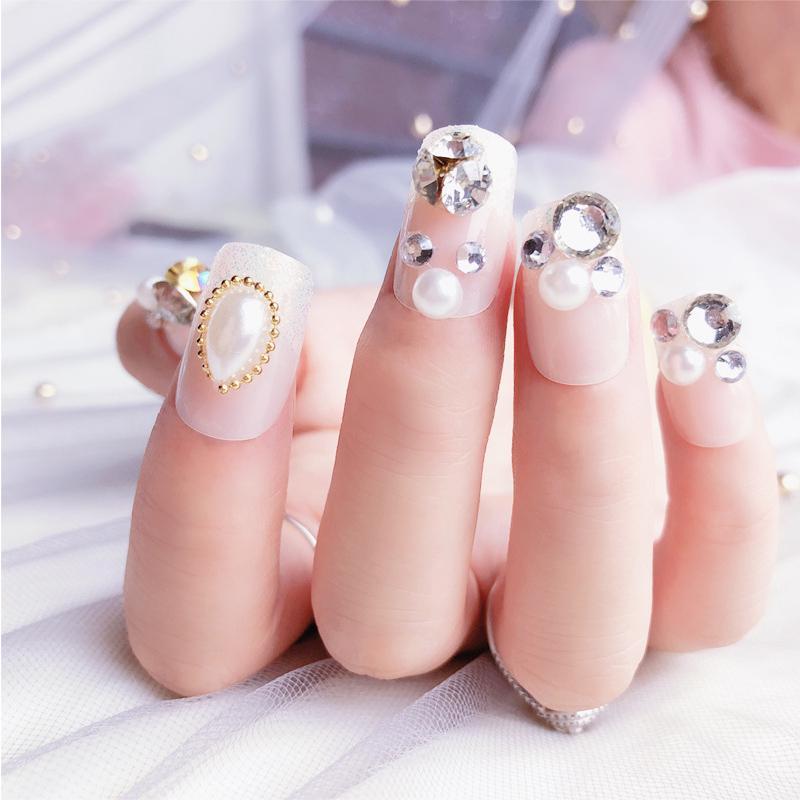 Nail Care, Manicure & Pedicure Health & Beauty The Best 24pcs Glitter Design False Nails Full Cover Nail Art Tips Fake Nails Uk Seller