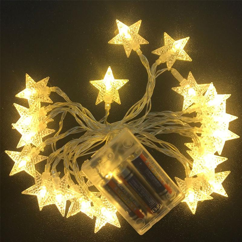 3m 30 led waterproof stars copper wire fairy string lights battery operated xmas wedding decor party