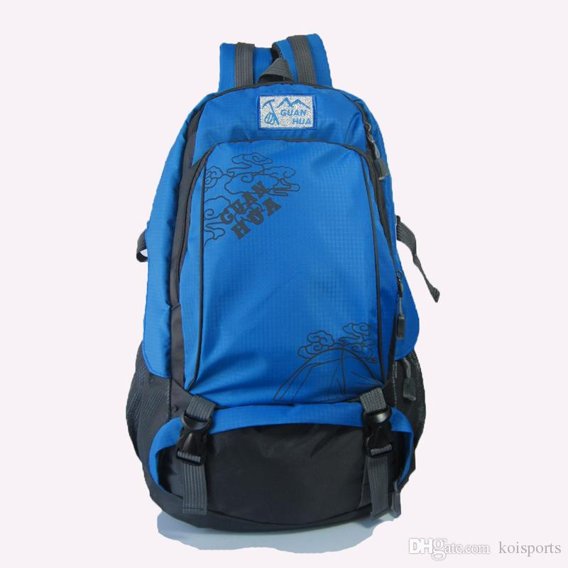 f1b5c55a596e 40 liters of Korean version of outdoor tourism mountaineering bag, male and  female shoulder bag large capacity waterproof Travel Backpack