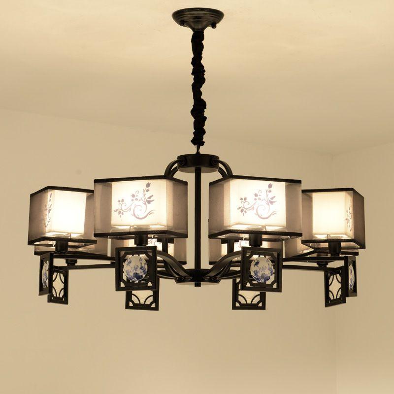 Acheter Duplex Escalier Lustre Fer Lampe En Verre Décor Classique