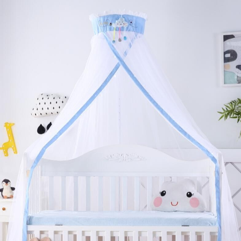 Beautiful Kids Room Bedding Mosquito Net Romantic Round Bed Mosquito Net Bed Cover Hung Dome Bed Canopy Mother & Kids Crib Netting