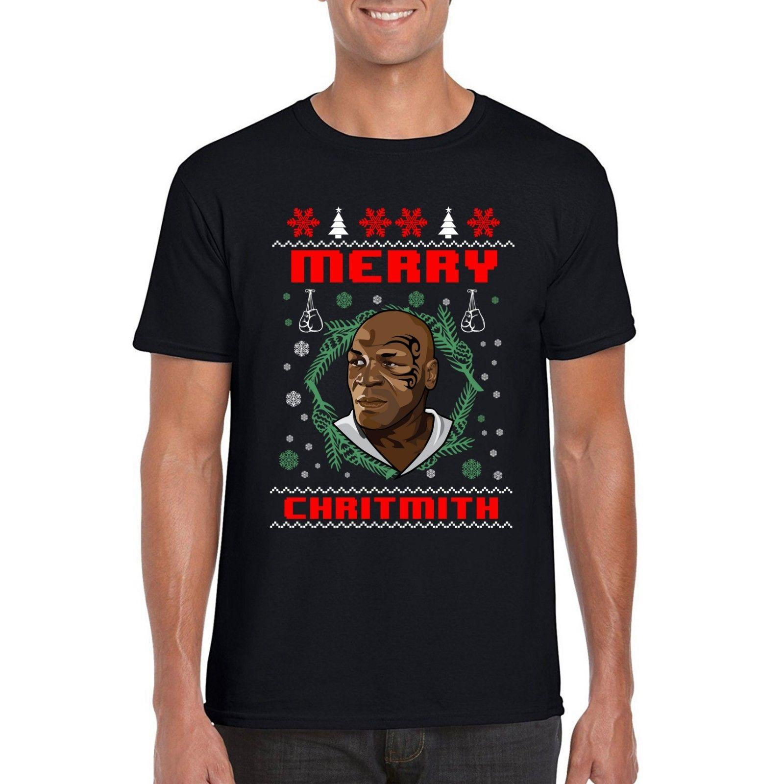 mike tyson christmas t shirt merry chritmith xmas festive parody tee top funny t shirts for men make t shirts from cottontshirt 1099 dhgatecom