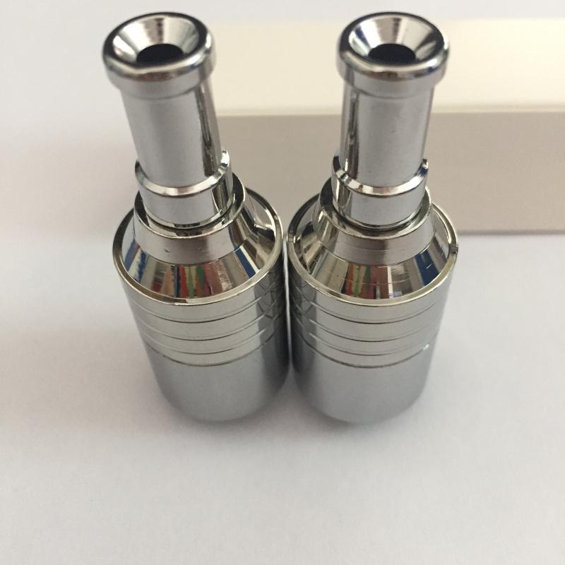 Лучшее качество воск атомайзер E cigs SS сухой травы пара с двойной керамический стержень катушки rebuildable атомайзер стеклянный шар испаритель ручка