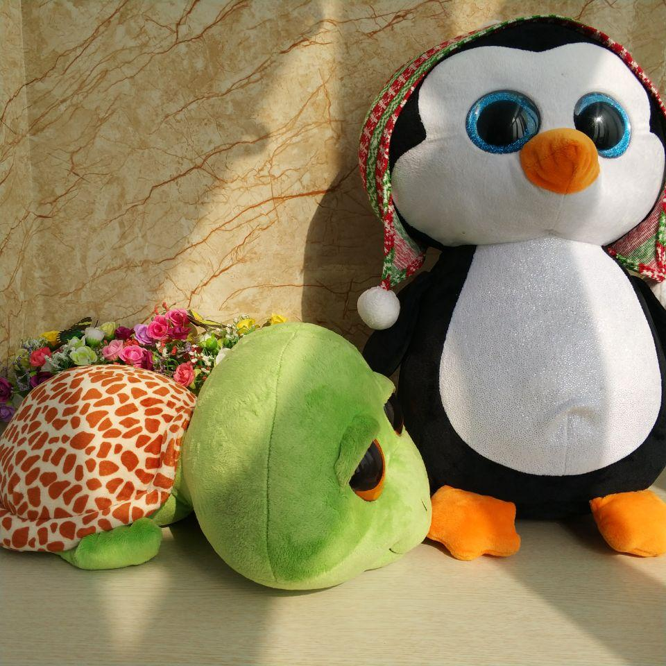 333b09cc15f 2019 40cm Ty Beanie Boos Plush Toy Penelope Penguin Zippy Turtle Stuffed  Animall Doll Large Tortois Kids Toy Gift Party Gift From Babyeden