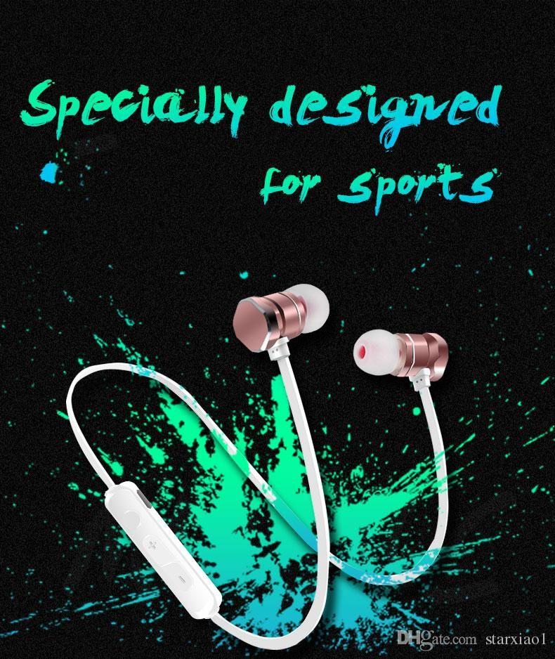 X3 Magnetic Bluetooth Headphone Earphone Waterproof Sweatproof Sports Stereo Wireless Headset For Iphone X 6 7 8Plus S8 Universal cell Phone