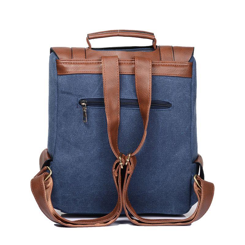 Neue weibliche Tasche Persönlichkeit Mode Männer und Frauen Casual Umhängetasche Retro Canvas Tasche British College Wind Rucksack