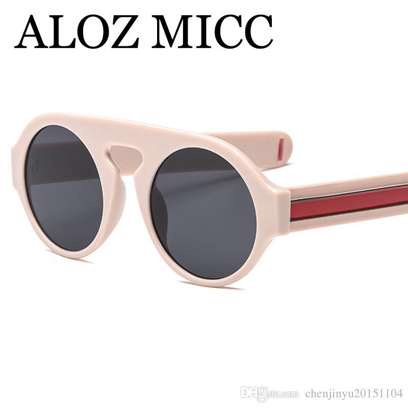 Compre Aloz Micc Óculos De Sol De Luxo Moda Oversize Rodada Óculos De Sol  Das Mulheres Designer De Óculos De Sol Homens Grande Armação De Alta  Qualidade ... c3315e1b00