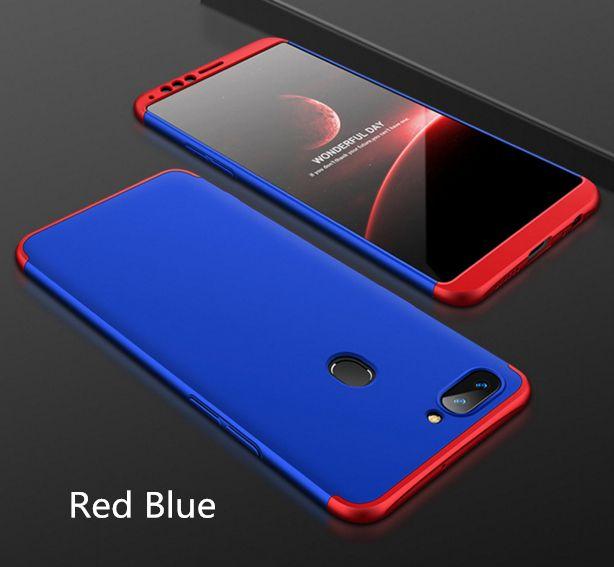 Para la caja del teléfono celular OPPO R11S Plus 3-en-1 Armadura a prueba de golpes completa 360 grados Armadura rígida dura para OPPO R11S Plus