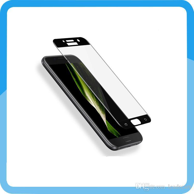 Protecteur de verre trempé de pleine couverture de 0.3mm 9H pour Samsung A3 A5 A7 2017 A320 A520 A720