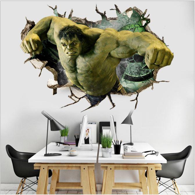 Acquista Gli Adesivi Hulk 3d Wallpapers Gli Adesivi Da Parete