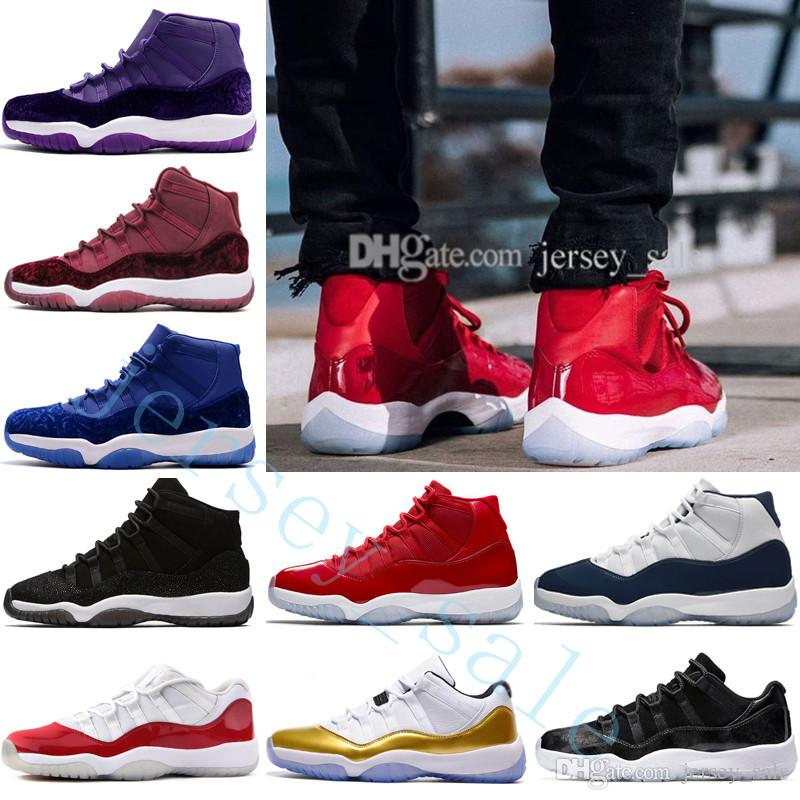 2a363ab14b5 2019 New 11 Chicago Gym Red 11s Midnight Navy Win Like 96 82 Mens  Basketball Shoes Men Women Space Jam 45 Low Bred 72 10 Georgetown Wool  Sneakers From ...
