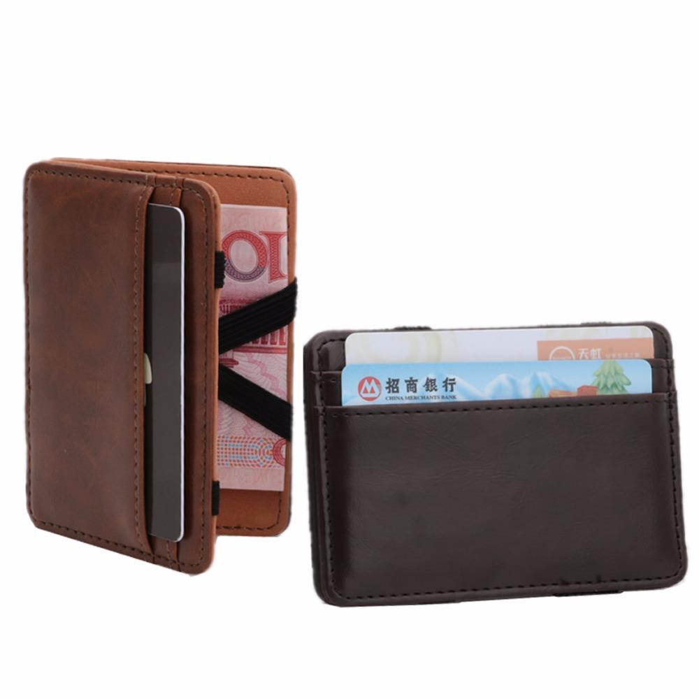 24f22c18db9 THINKTHENDO Men s Mini Magic Money Faux Leather Clip Slim Wallet ID Holder  Case Leather Wallets For Women Small Wallets From Keviney