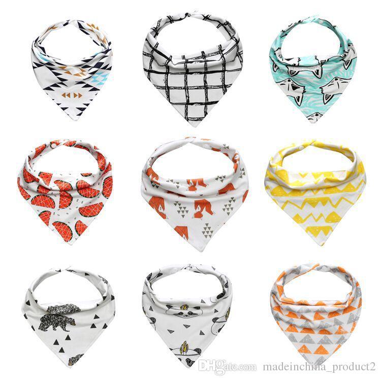 27 Styles Bibs Burp Cloth Print Arrow Wave Triangle Scarf Baby Bibs Cotton  Bandana Children Accessories