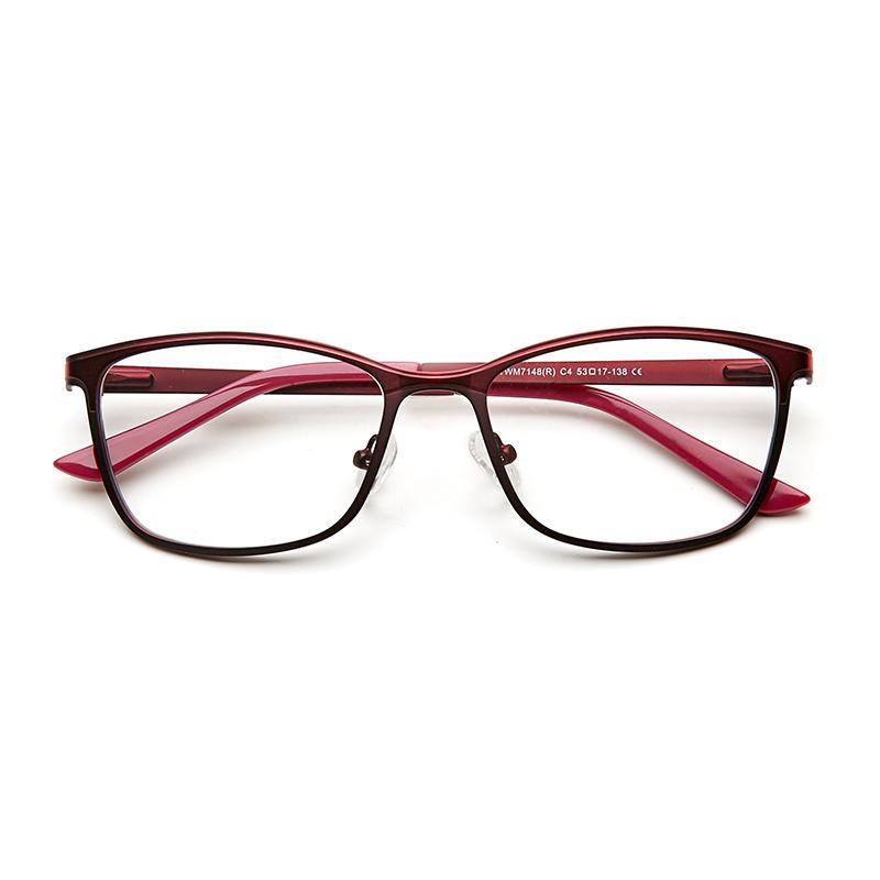 9cdf75d6ed 2019 Stylish Metal Female Women Cat Eye Optical Eyeglasses Frame Cateye Red Vintage  Eye Glasses Frames For Women From Fabuline