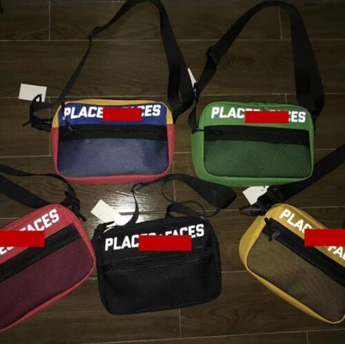 Brand New Places + Gesichter 3M reflektierende Skateboards Tasche P + F Nachricht Taschen Casual Männer und Frauen Hip-Hop-Umhängetasche Mini Handy Packs