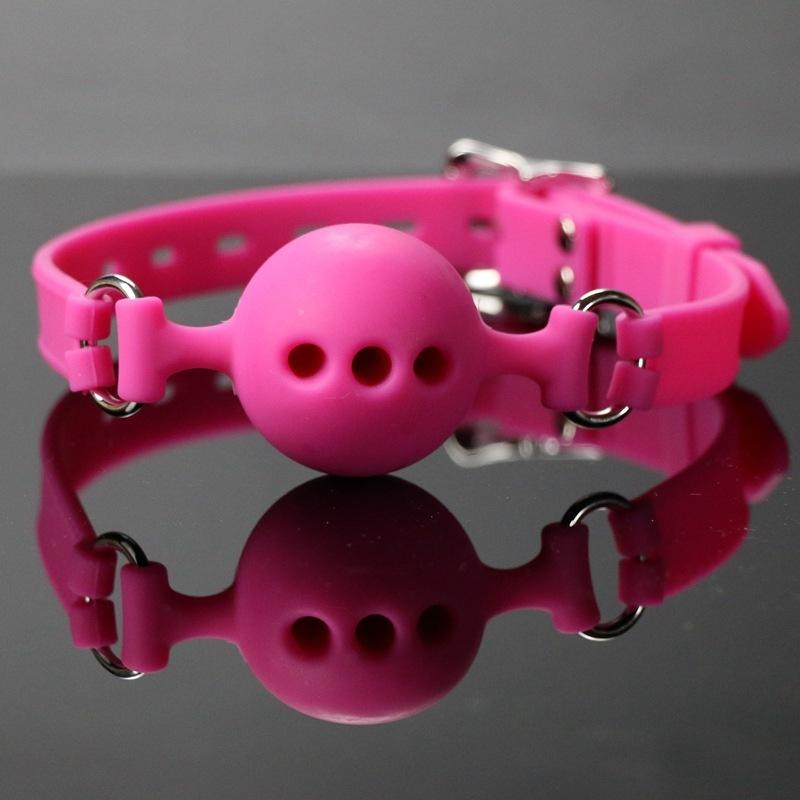 Pink 3 Sizes Choose Silicone Ball Silicone Mouth Gag Sex Products Toys BDSM  Bondage Adults Games Mouth Stuffed Open Mouth Gags Y18100803 Games Games  Play ...