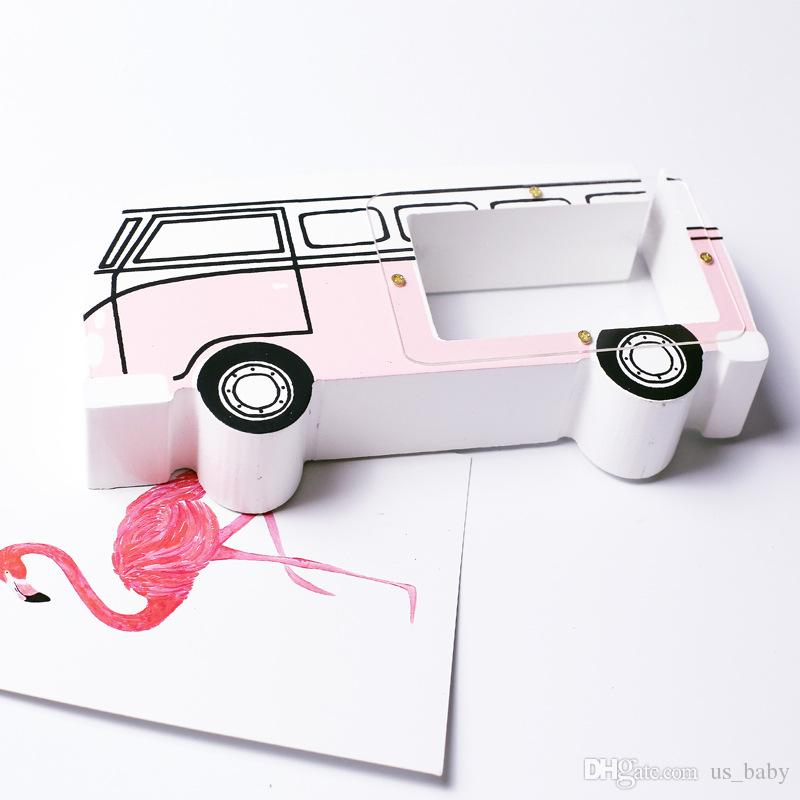 Bus style Piggy Bank Wooden Money Box Children Coin Box Home Decoration Accessories Kids Gifts 4styles