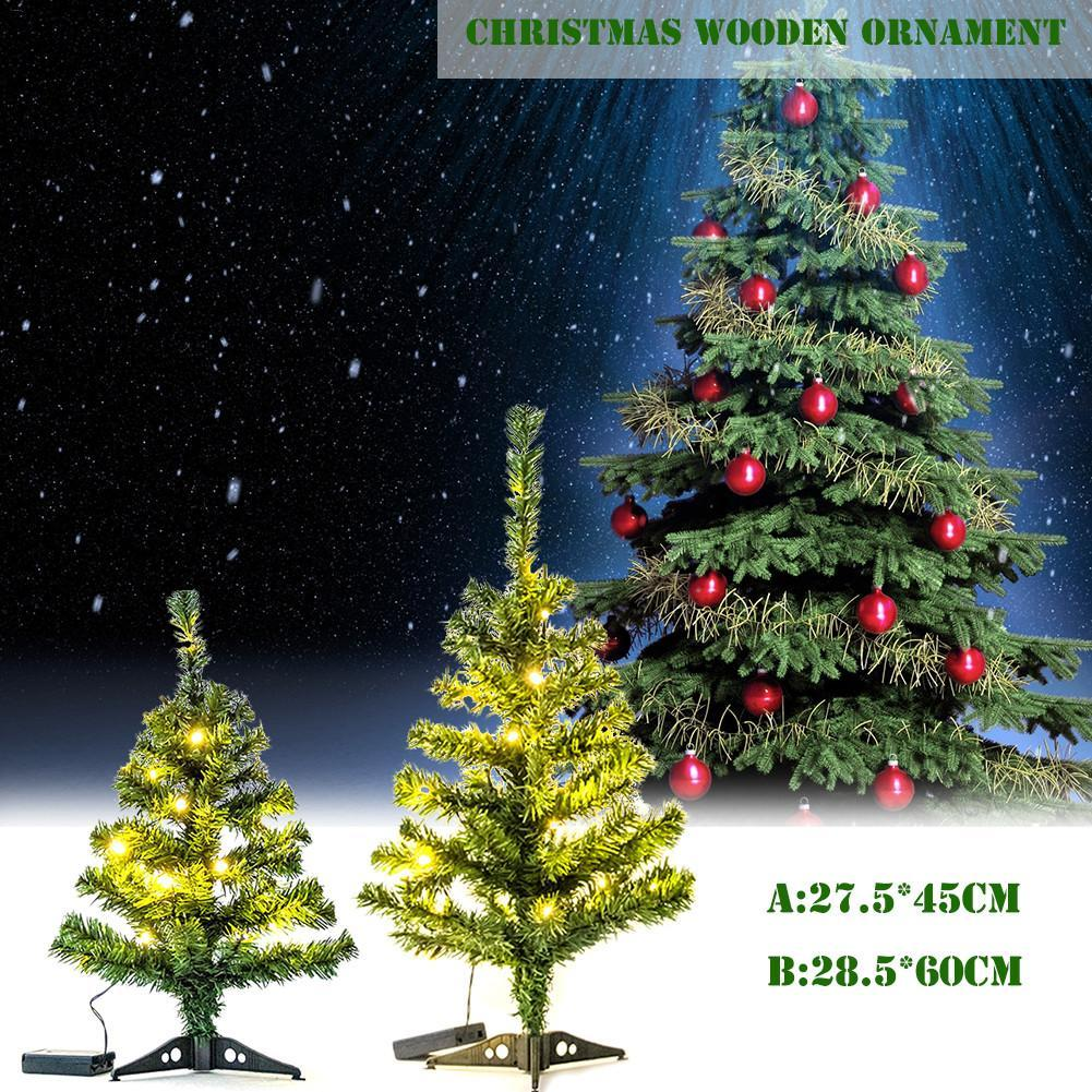 Pvc Christmas Trees.45 60cm Pvc Christmas Tree Christmas Gifts Ornaments With Led Lights For Home Shopping Mall Decoration