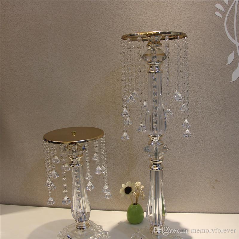 Acrylic Crystal Wedding Centerpiece Table Centerpiece 73 cm Tall * 20cm Diameter Wedding Decor road leads