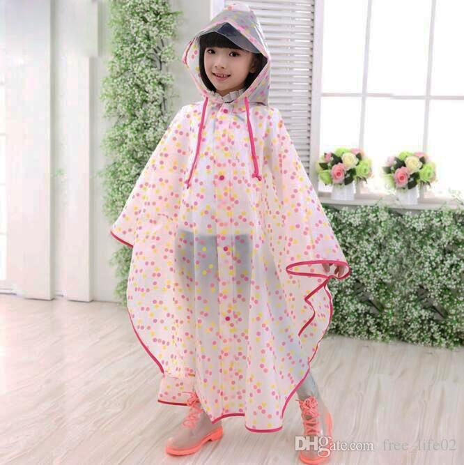 Wholesale Impermeable Children Raincoat Plastic Transparent EVA Rain Coat Waterproof Kids Rainwear Rain Gear Poncho