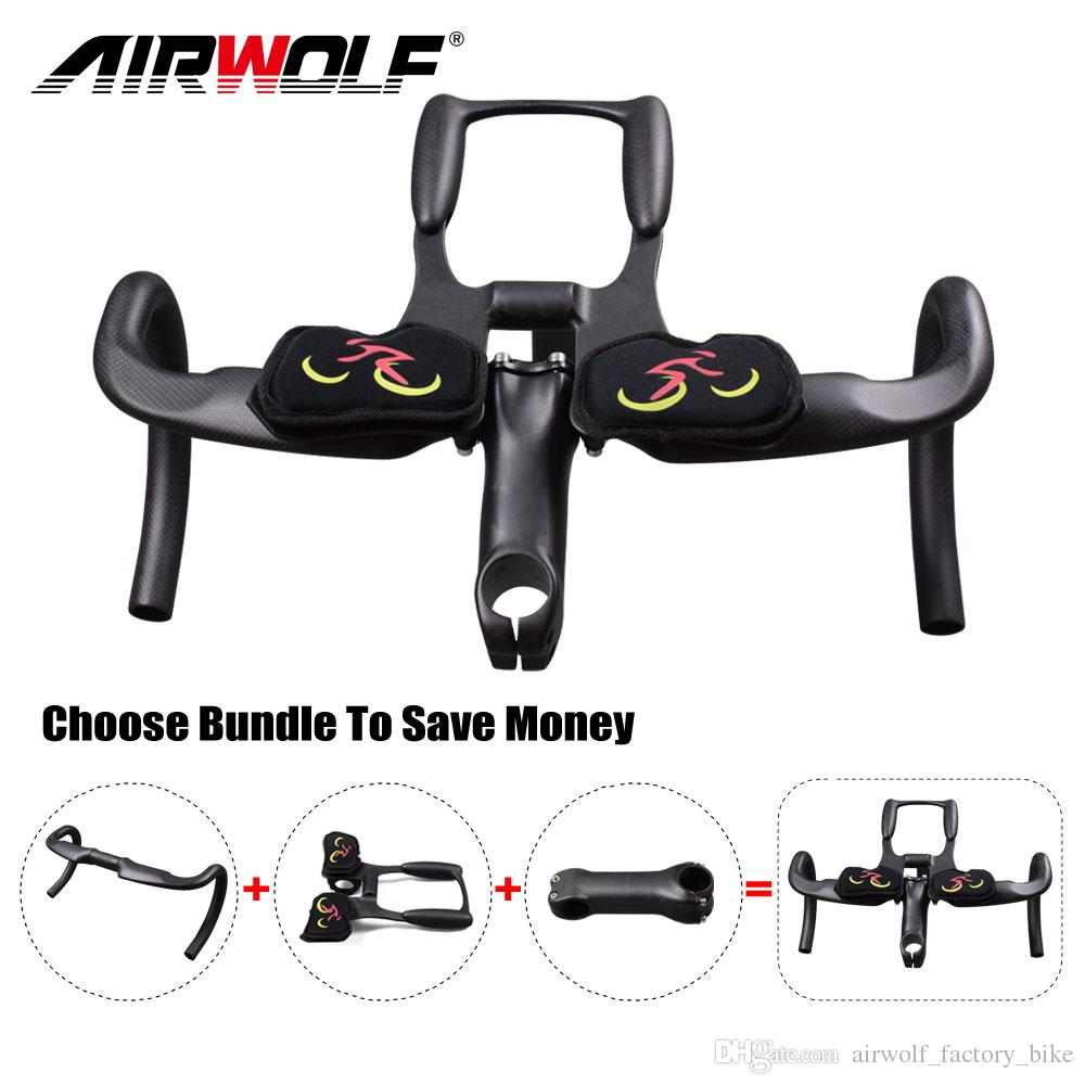 Airwolf Carbon Fiber Road Bicycle Cycling Handlebar Carbon Bike