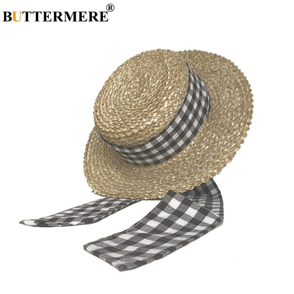 BUTTERMERE Women Fashion Summer Hats Boater Straw Beach Sun Hat Summer Lady  Big Brim Lace Up Plaid Korean Fedora Hat Cheap Hats Kids Hats From  Ancient88 3570801a347