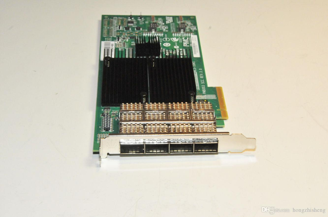 PMC SIERRA PM8003 SCC REV 3.0 HCS-1041 111-00341 + B0 X2065A R6 HBA Bakır PCIe SAS 4 Port QSFP