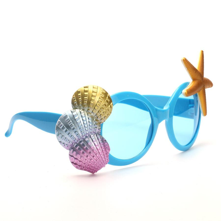 Funny Blue Seashell Glass Beach Party Favors Photo Booth Props Kids Adults Costumes Holiday Sunglasses Party Supplies Decoration