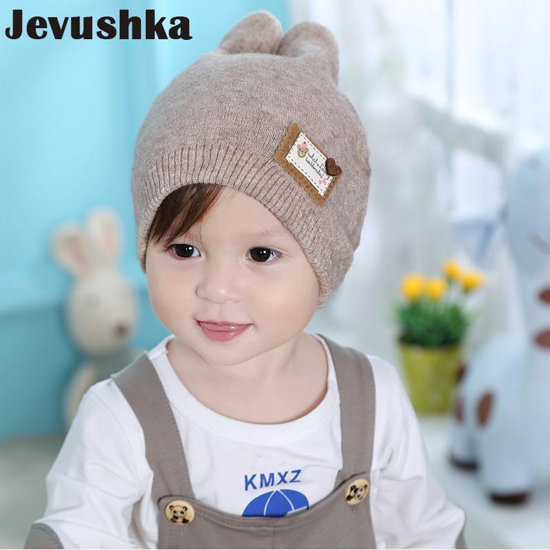 2019 Winter Soft Wool Cotton Baby Hat Newborn Baby Beanie Warm Winter Hat  For Girls Boys Knitted Kids Cute Riaabit Ears HT035 From Bosiju 40fb2845287