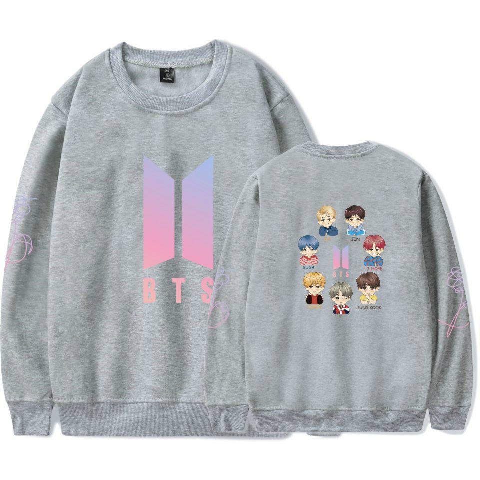 4a0bbd2bc386 Hip Hop Style Fashion 2018 BTS Kpop Hoodies Sweatshirts Men Women ...