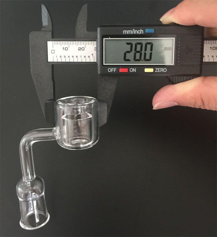 Date 10/14 / 18mm MaleFemale XXL 28mm OD Double Tube Quartz Banger Thermique VS Top Plat 4mm Épais XL Clou À Quartz