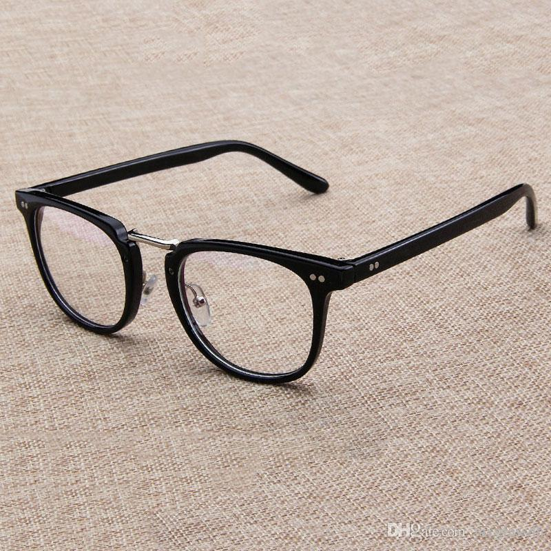 f166c40cdc5 Square Fashion Glasses Frame Men 2018 High Quality Prescription Eye Optical  Rivet Glasses Frame Retro Women Spectacle Eyewear Suncloud Sunglasses Foster  ...